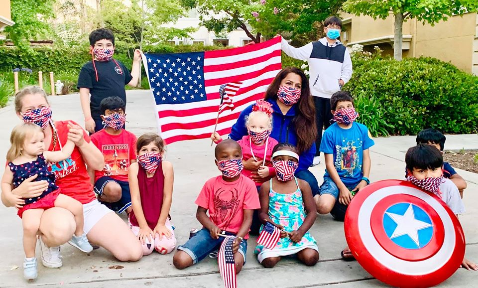 Harbir with City of Santa Clara District 1 Residents on July 4, 2020