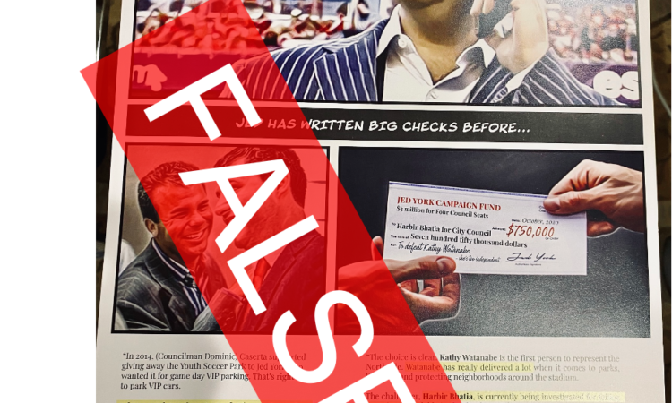 FALSE CLAIM: That I have taken money from 49ers OR Jed York CHECK out the Form 460 (which is public record) which shows all the donors to my campaign (and […]