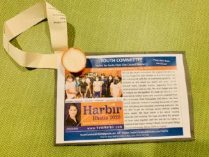 Youth Sustainable Flyer for Harbir Bhatia for Santa Clara District 1